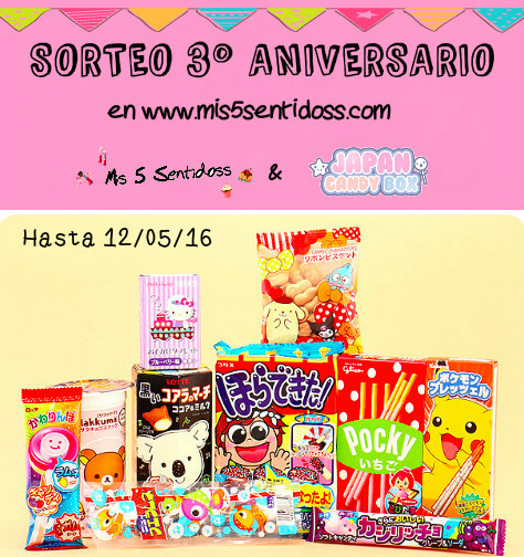 ¡Sorteo Internacional 3ºAniversario con Japan Candy Box!