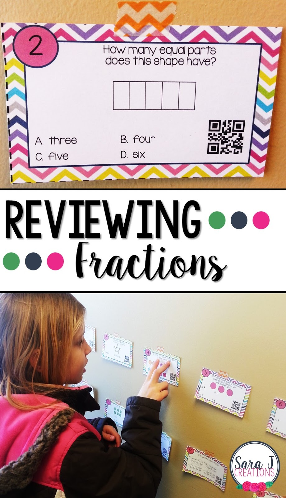 Adding QR codes makes practicing fractions activities even more fun and interactive.