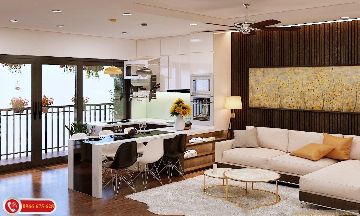 Phòng khách căn hộ Deal Key Amber Riverside