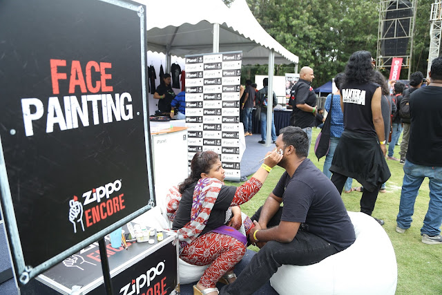 Face Painting at Zippo Encore Area at BOA 2017