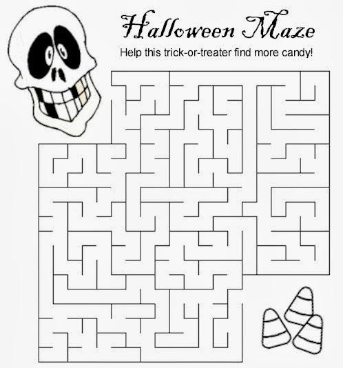 8 Medium Halloween Maze Printable