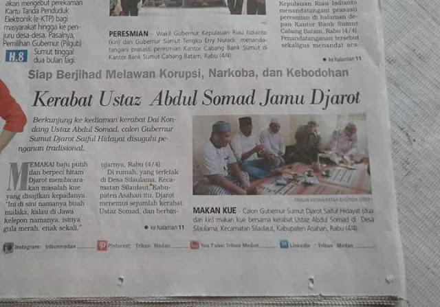 Netizen Protes Politisasi Keluarga Ustadz Abdul Somad di Pilgub Sumut