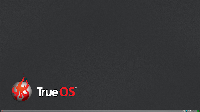 TrueOSの標準デスクトップ環境「Lumina」です。