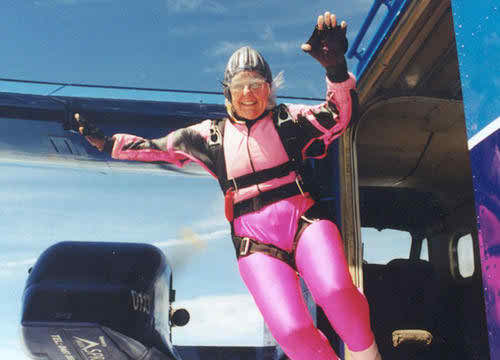 Meet Dilys Price, the Oldest Female Skydiver In the World