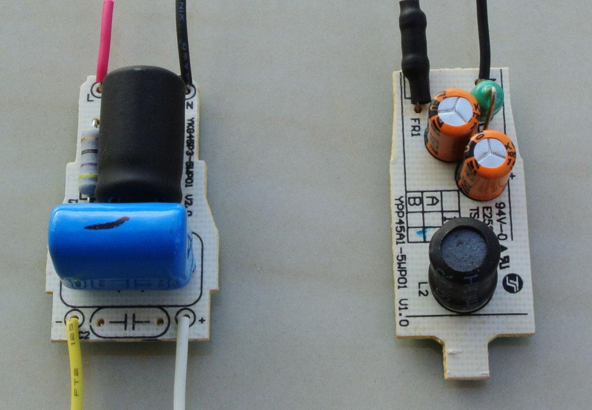 Kiri driver LED 3W, kanan driver LED 4W.