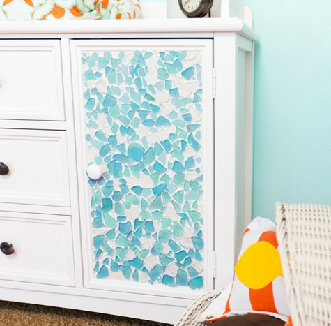 Beach Theme Dresser Makeover