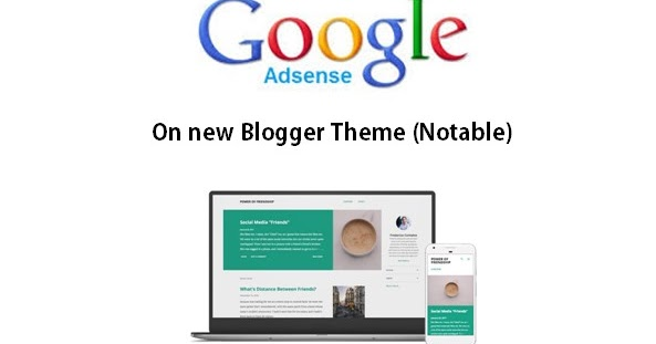 different places to put google adsense in the new official blogger
