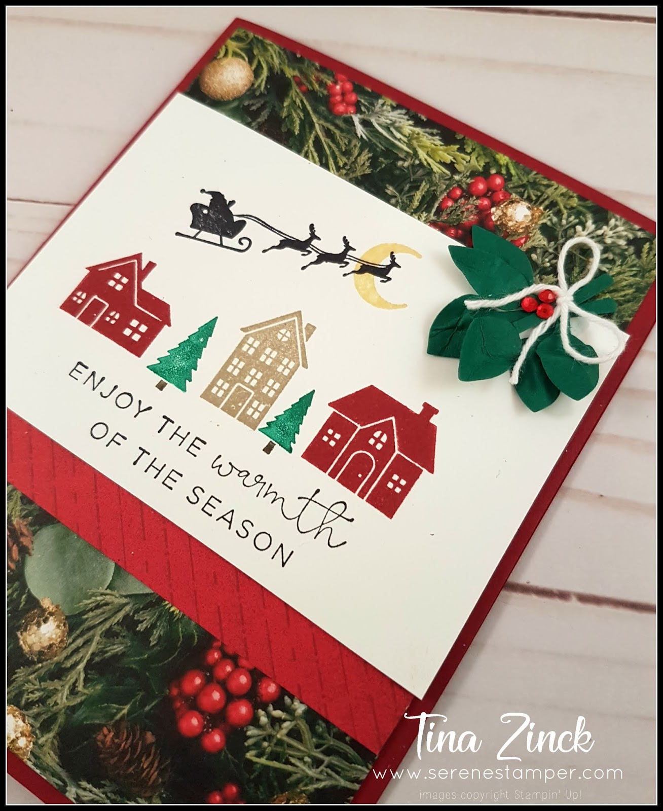 The Serene Stamper: Hearts Come Home Christmas Card