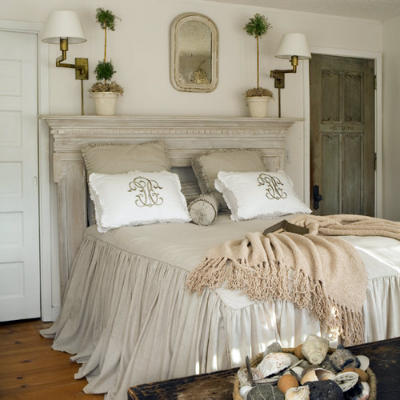 Creating a Beautiful Headboard from a Vintage Mantel | Driven by Decor