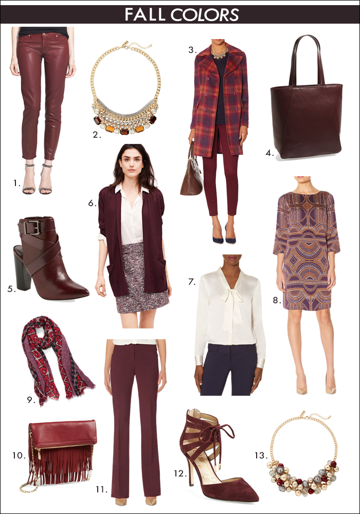 what to wear fall, how to wear oxblood, jewel tone trend, fringe trend, nordstrom, limited, loft
