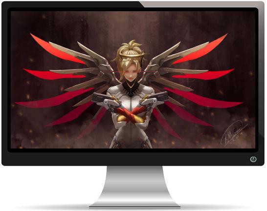 Mercy Overwatch - Fond d'Écran en Quad HD