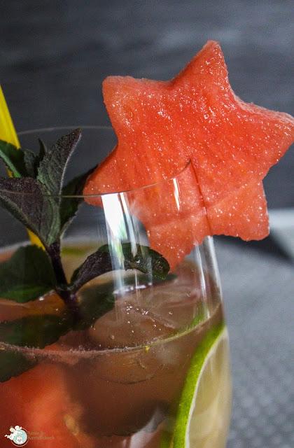 Limette Minze Wassermelone Getränk