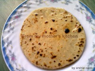 meethi roti, sweet bread, best indian breakfast