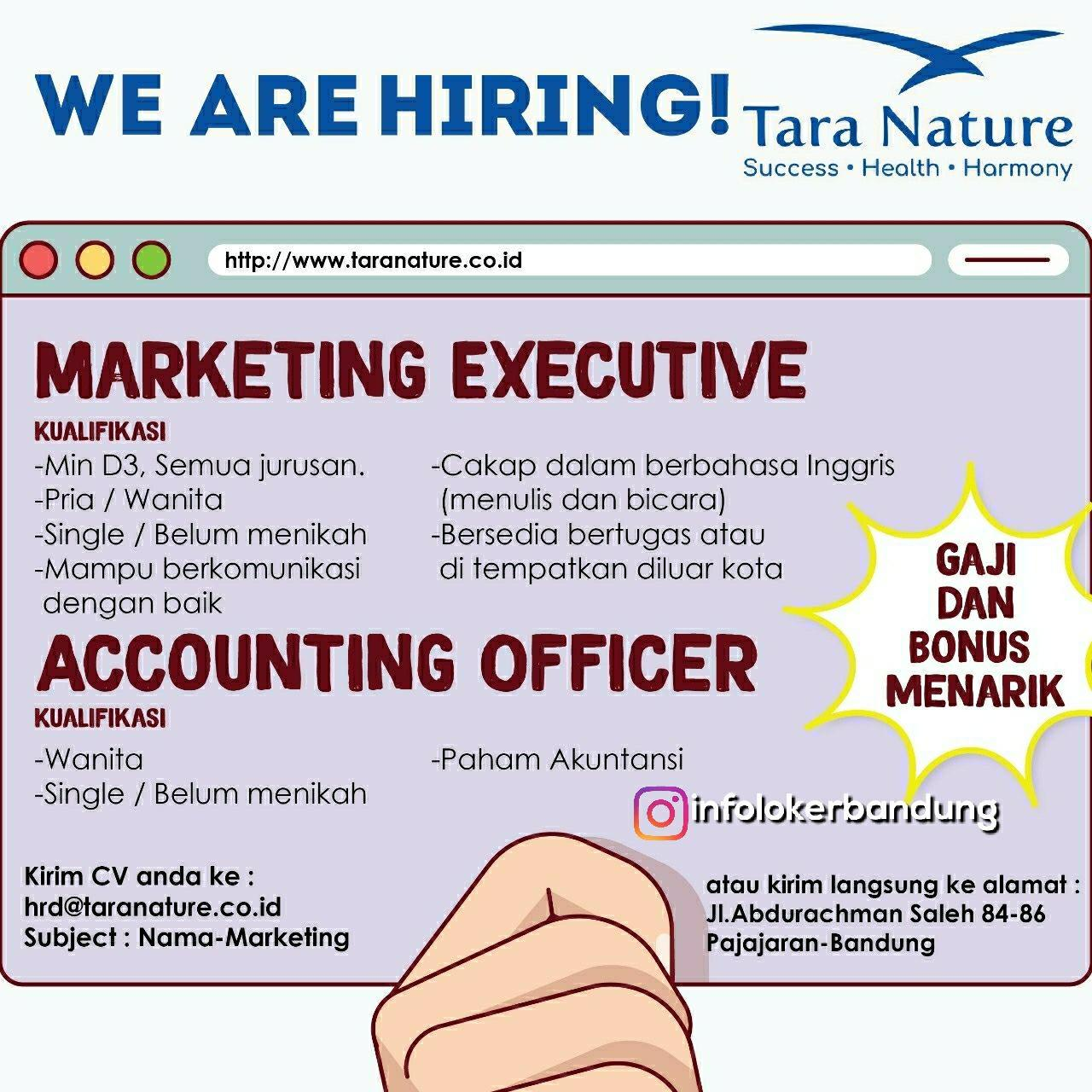 Lowongan Kerja Tara Nature Bandung April 2018