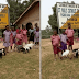 Photo Of Students Receiving Goats For Coming First In Their Respective Classes