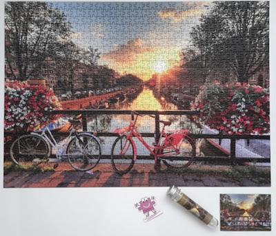 kanalda gün batımı puzzle