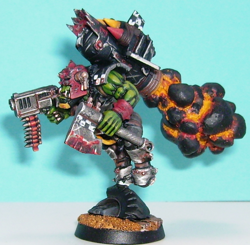 Musings Of A Smurf: In The Smurf Case: Ork Storm Boyz Finished