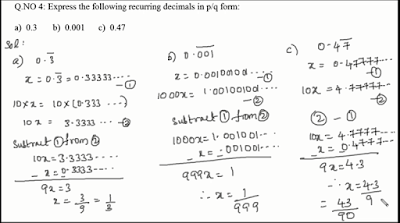 CONVERTING DECIMALS INTO RATIONAL NUMBERS