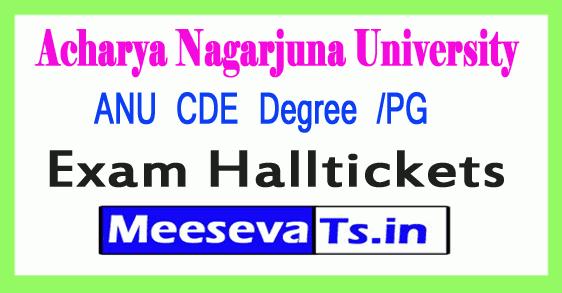 Acharya Nagarjuna University ANU CDE Degree /PG Hall Tickets