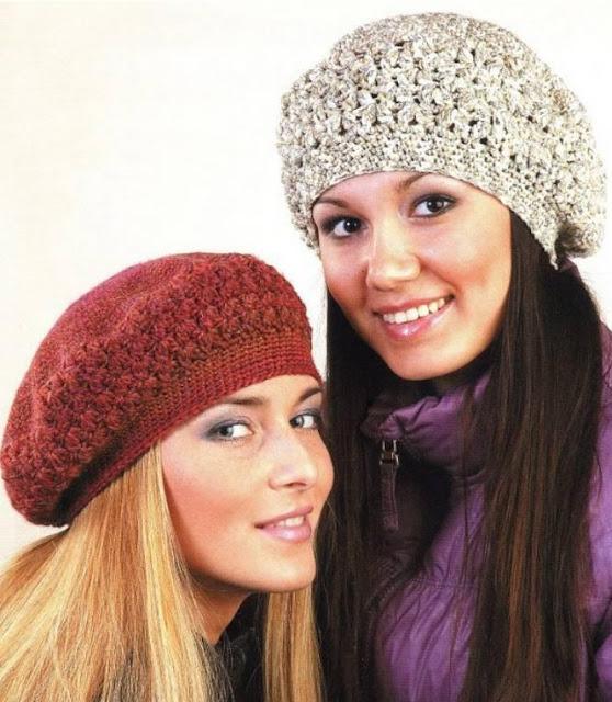 Patrón #1102: Boinas a Crochet