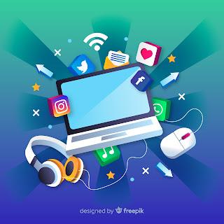 terhubung di media sosial