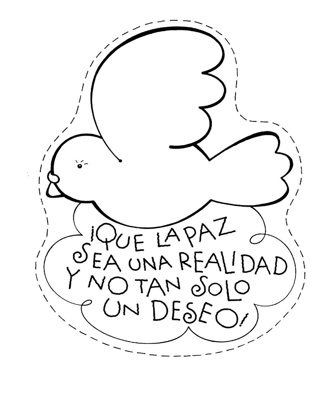 Maestra de Infantil: Día de la Paz. 30 de enero. Dibujos para colorear.