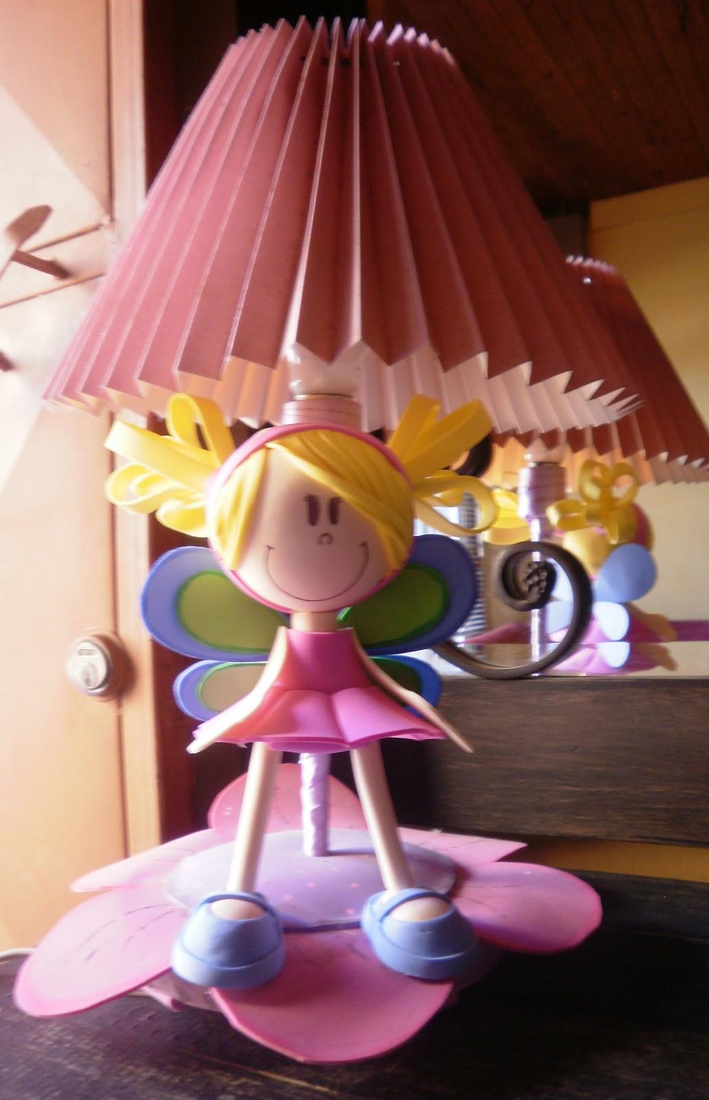 Creaciones Marifer: Lampara para cuarto de niña.