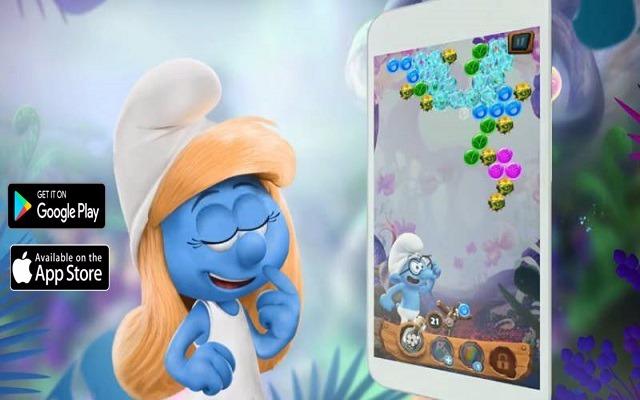 تحميل لعبة السنافر smurfs bubble story لهواتف أندرويد مجانا