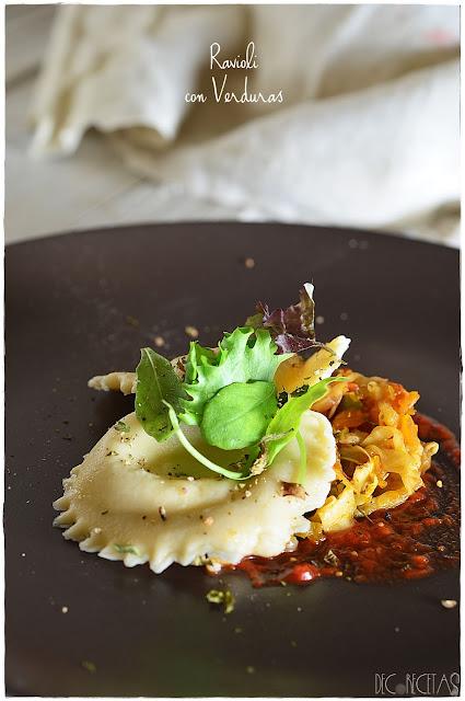 Ravioli con verduras