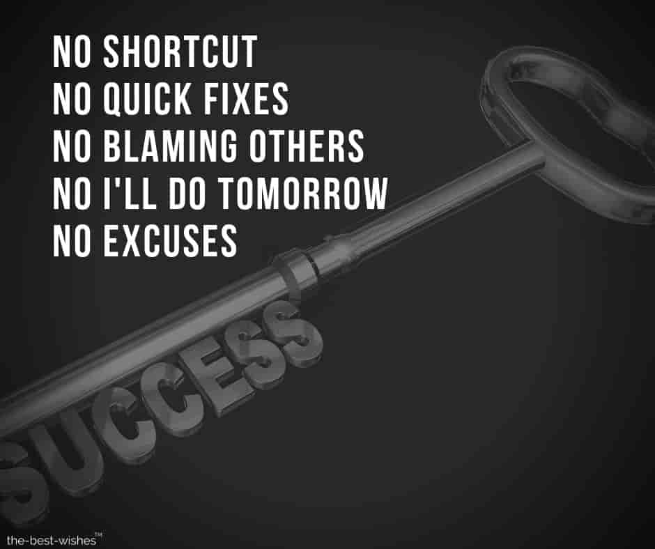 Motivational Quotes on No Excuses Beautiful Image