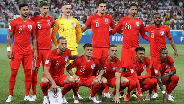 Skuat Timnas Inggris di Piala Dunia 2018