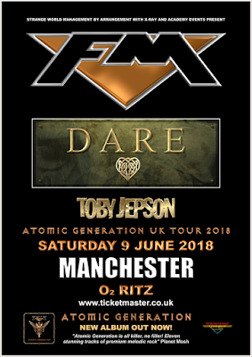 FM / Dare / Toby jepson at O2 Ritz Manchester 9 June 2018 - poster