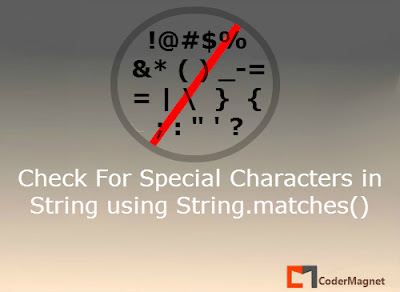 How to check for Special Characters in a String in Java