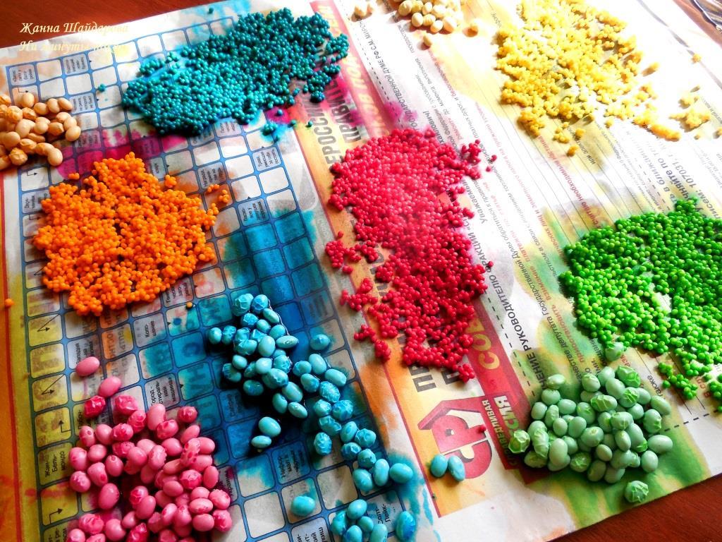 как покрасить фасоль