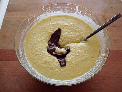 Torta cocco e nutella: aggiungere la nutella