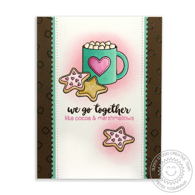 Sunny Studio Stamps: Mug Hugs Hot Chocolate Card by Mendi Yoshikawa