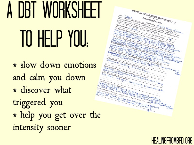 Emotion Regulation Worksheet. Worksheets. Tutsstar ...