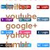 Social Media Login Buttons - Vector Image