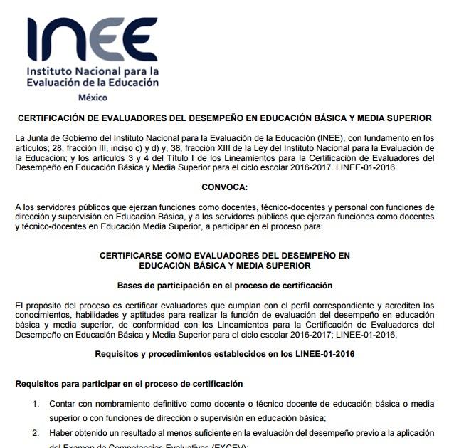 Telesecundaria papantla inee convocatoria para for Convocatoria para concurso docente 2016