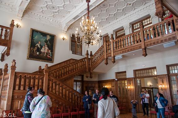 Hall principal Palacio Magdalena. Santander