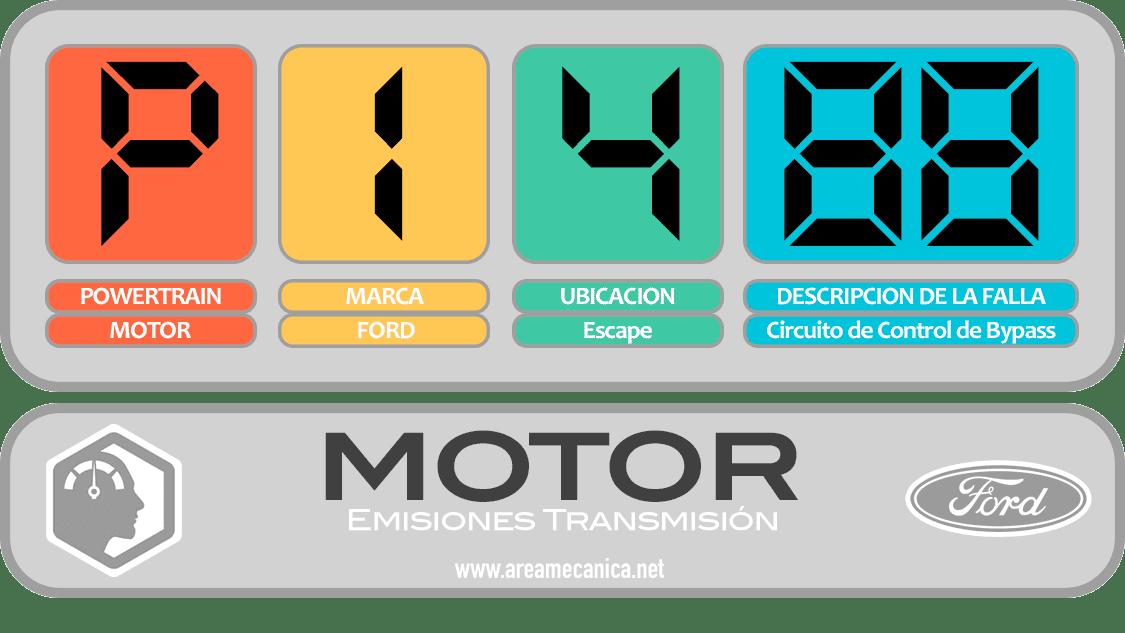 CODIGOS DE FALLA: Ford (P1400-P14FF) Motor | OBD2 | DTC