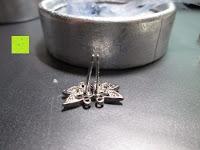 Stecker schief: Fashmond Doppel Blumen Schmetterling Creolen Ohrschmuck aus 925 Sterling Silber Für Jeden Anlass