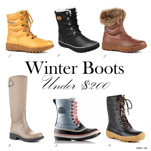 Winter boot options under $200