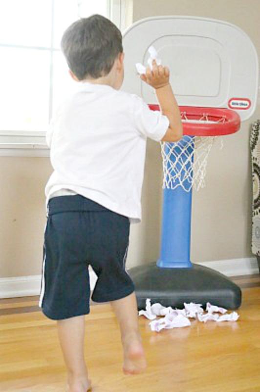 printable alphabet game - shooting ABC Basketballs