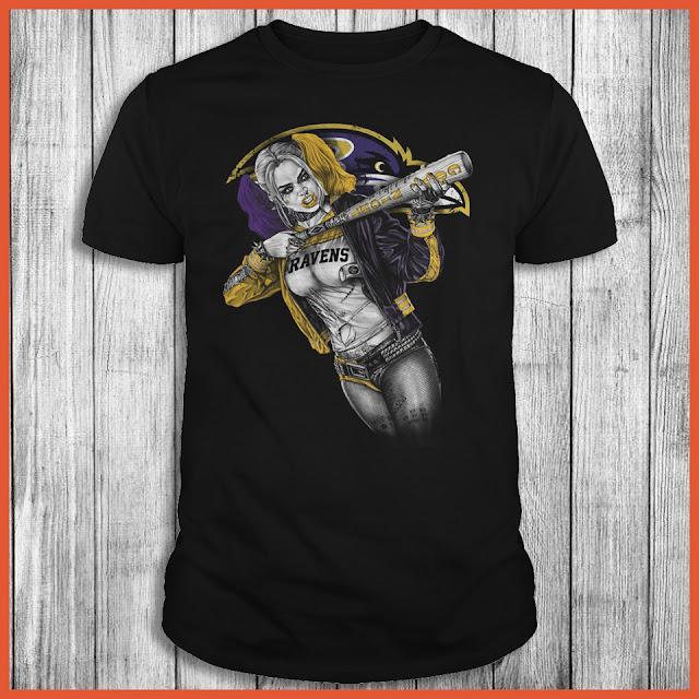 Baltimore Ravens Harley Quinn T-Shirt