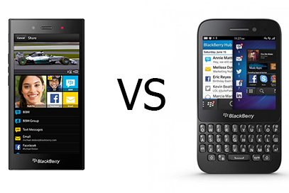 Blackberry Z3 vs BlackBerry Q5 Techdio