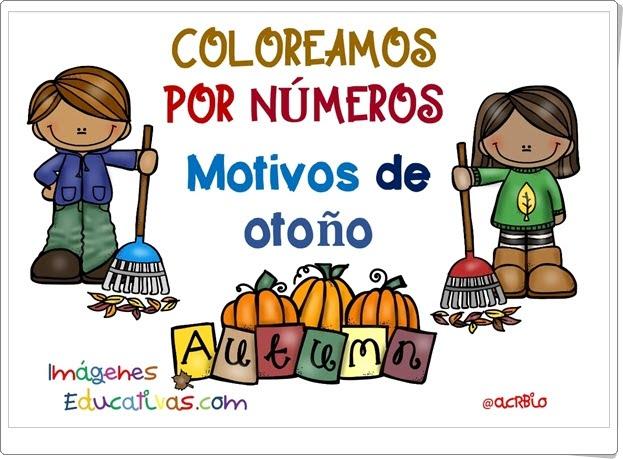 """""""Coloreamos por números. Motivos de Otoño"""" (Números del 1 al 3)"""