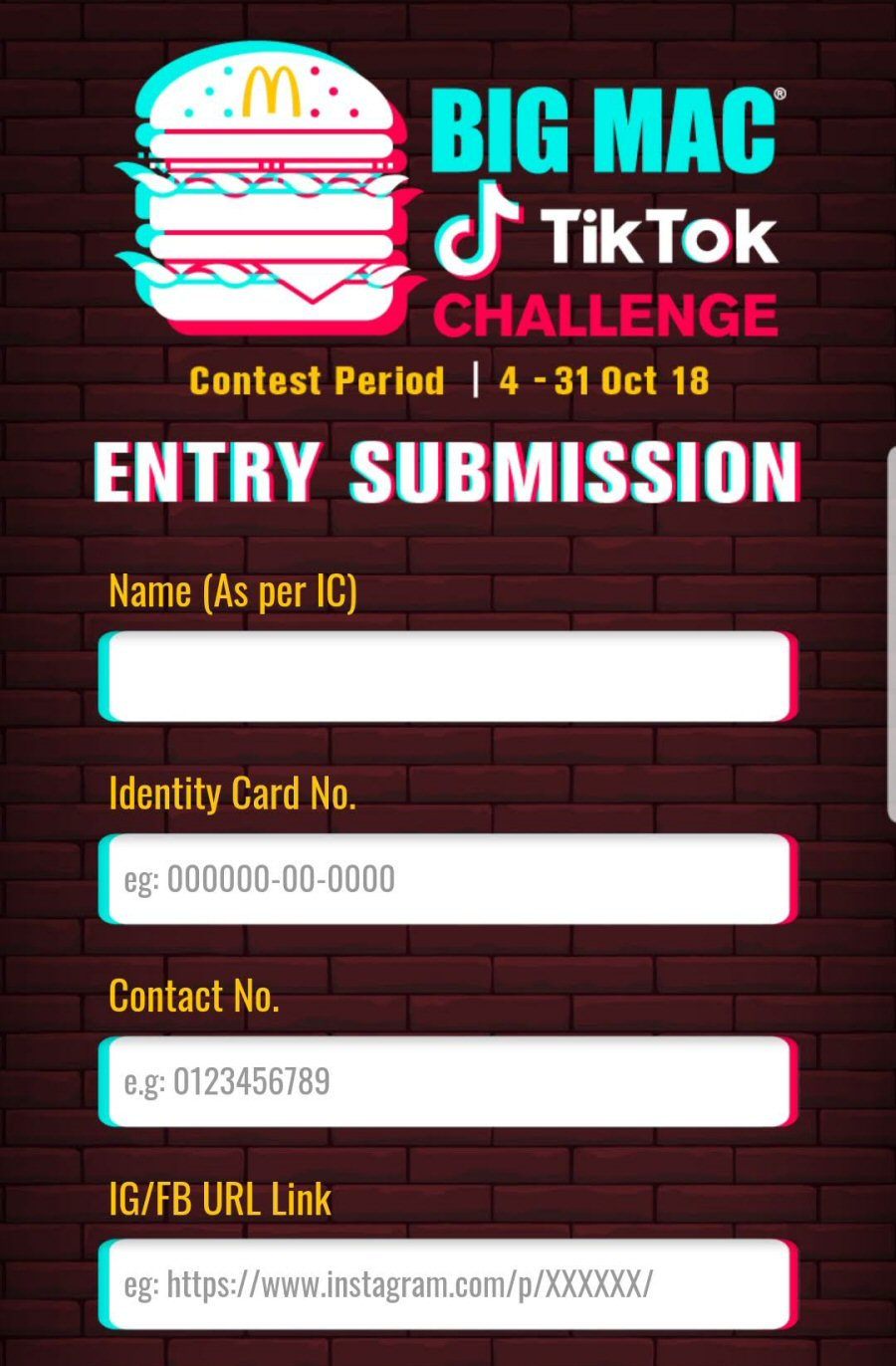 Big Mac x TikTok Challenge: How to submit entry?