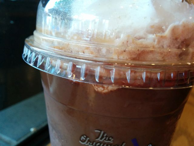 Review The Coffee Bean Affogato Ice Blended With Cookies Brand Eating