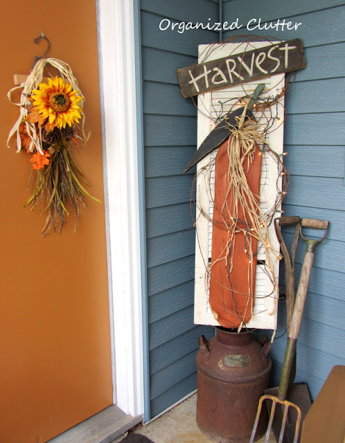 Rustic & Vintage Fall Covered Patio